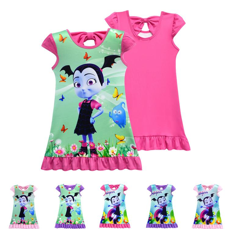 a4fa9cf6b59 Vampirina girls dresses 6 designs 2~10 years old kids baby girls dress  Vampirina Printed kids summer dress kids clothing DHL LA872