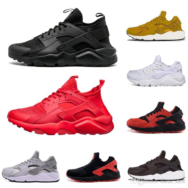 new styles a31e9 5efac Compre Nike Air Huarache Nuevo Diseñador Air Huarache Para Hombre Zapatos  Para Correr Gris Rojo Negro Triple Blanco Negro Dorado Todo Rojo Negro  Blanco ...