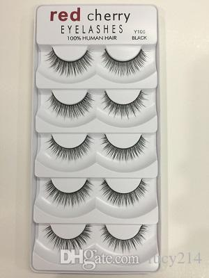 2018 Red Cherry False eyelashes /pack 8 Styles Natural Long Professional makeup Big eyes High Quality Free DHL