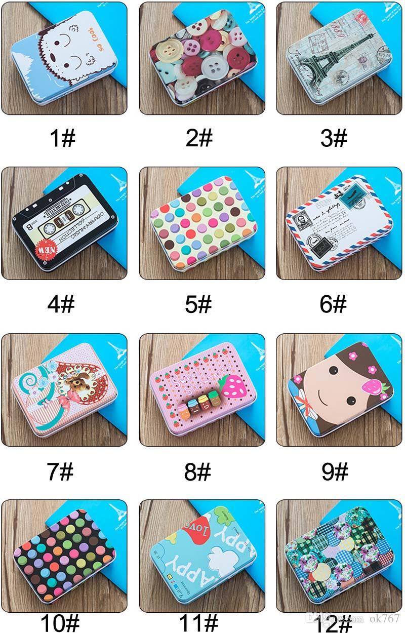Cartoon Eisen Aufbewahrungsbox Korea niedlichen Retro-Mini-Blechdose Schmuck Geschenkkarte kleinen Eisenkasten