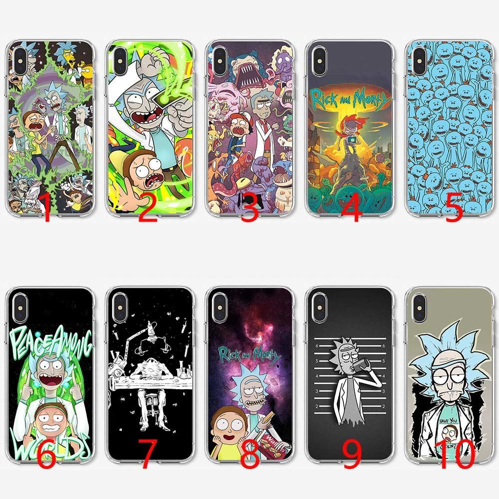 Rick and Morty Season Soft Silicone TPU Phone Case for iPhone 5 5S SE 6 6S  7 8 Plus X XR XS Max Cover