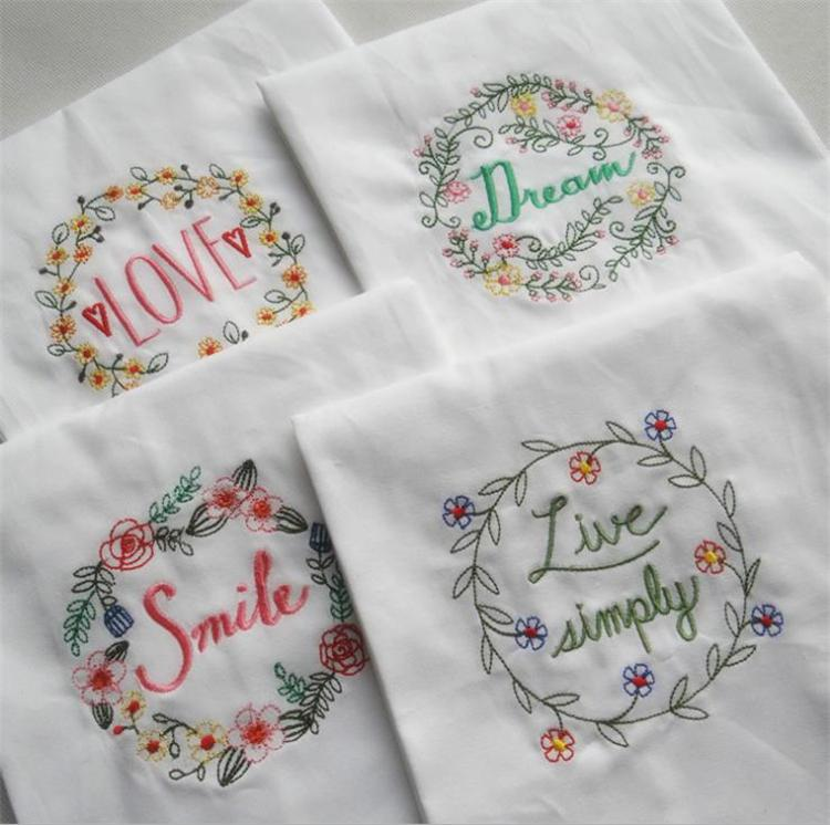 Artifact Napkin Home Furnishing Fabric Art Dinner Cloth tableware pads Embroider Water Uptake Soft Exquisite Texture Cup Mats I452