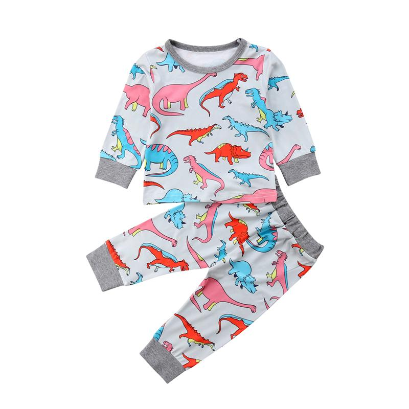 dd387d27dce86 2019 Baby Girl Clothing Newborn Baby Girls Dinosaur Clothes Kids Long  Sleeve T Shirt Tops Pants Outfits Infant Girl Clothes Set From Sophine14,  ...