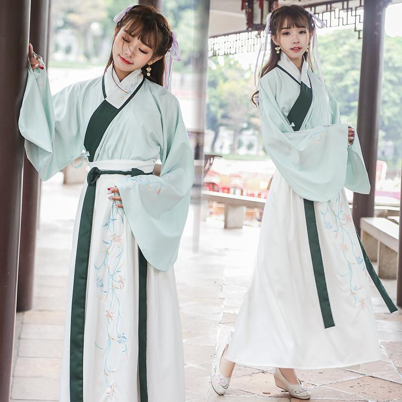 5dbb4c291 2019 Summer Girls Hanfu National Costume Ancient Chinese Cosplay Green  Costume Ming Dynasty Fairy China Women Hanfu Clothes Lady From Trousseau,  ...