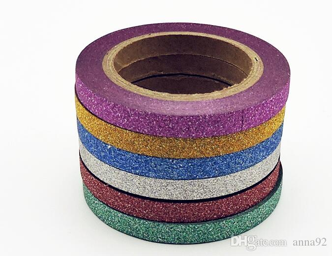 Washi Tape Glitter Color Japanese Stationery 0.5*6.5meter Kawaii Paper Scrapbooking School Tools Decorative Tapes Mask 2016