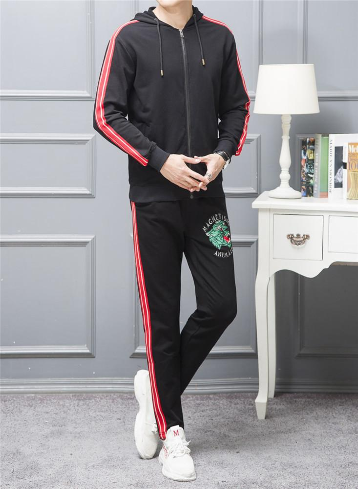 ed543612 Joggers Spring And Autumn Season New Pattern Men's Leisure Time Motion 2018  Athletic Wear Suit Dress Male tracksuit jogging men fashion