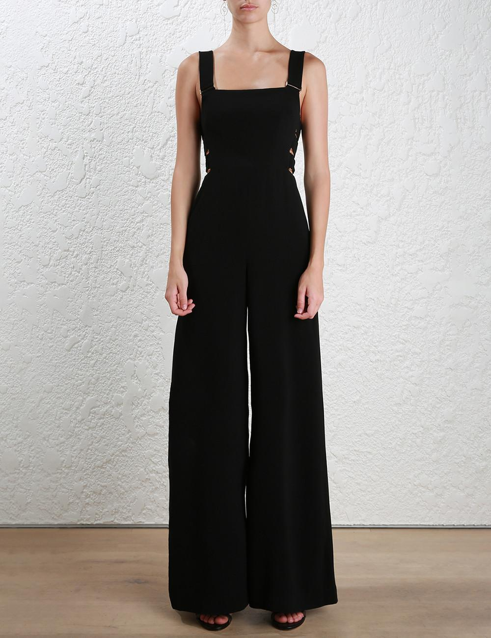 PADEGAO Fashion Hollow Out Shoulder-straps Jumpsuits Wide Leg Pants 2017 Summer Elegant Slim Backless Women High Quality Clothes