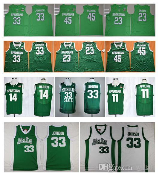 michigan state spartans 11 keith appling green jersey