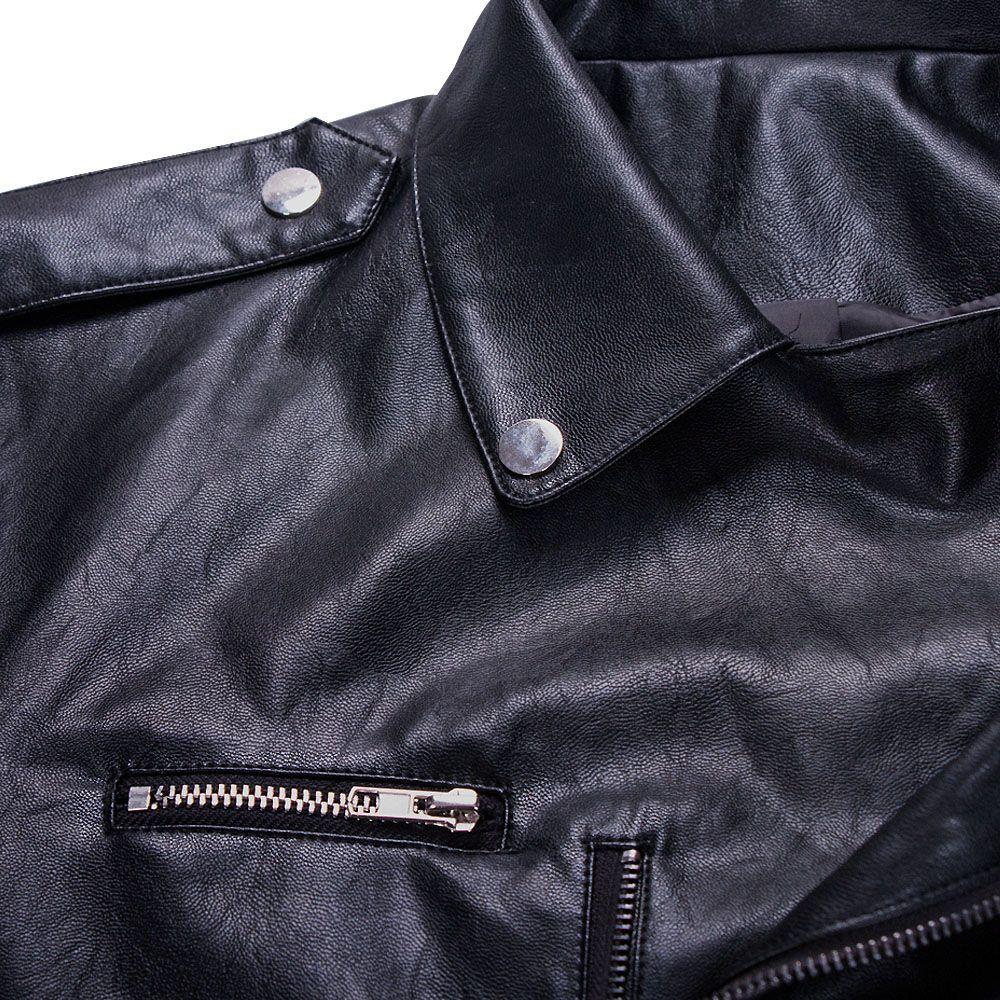 2016 The Walking Dead 7 Negan Black Leather Jackets Cosplay Man Turn-down Collar Leather Coat Halloween Christmas Gift