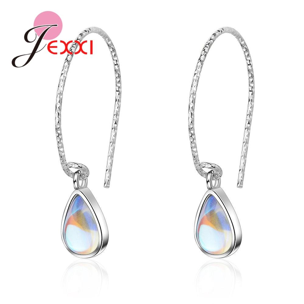 2019 JEXXI 2019 Waterdrop Colorful Crystals Drop Earrings 925 Sterling  Silver Sexry Women Fashion Wedding Engagement Brinco Jewelry From Atunice 19a20637b1