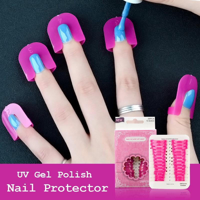 MANZILIN UV Gel Nail Art Protector Stencils Creative Nail Polish ...