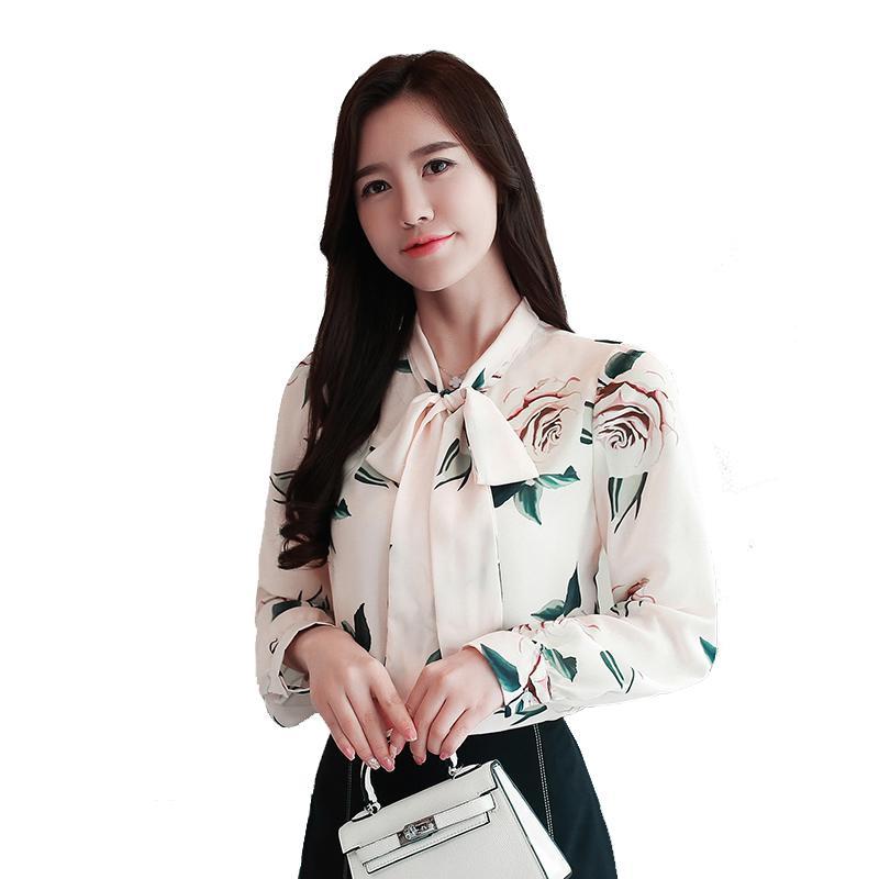 7c780b664b29 Блузки женщины цветочные шифоновые рубашки блузка 2018 Новый женская  рубашка мода ...