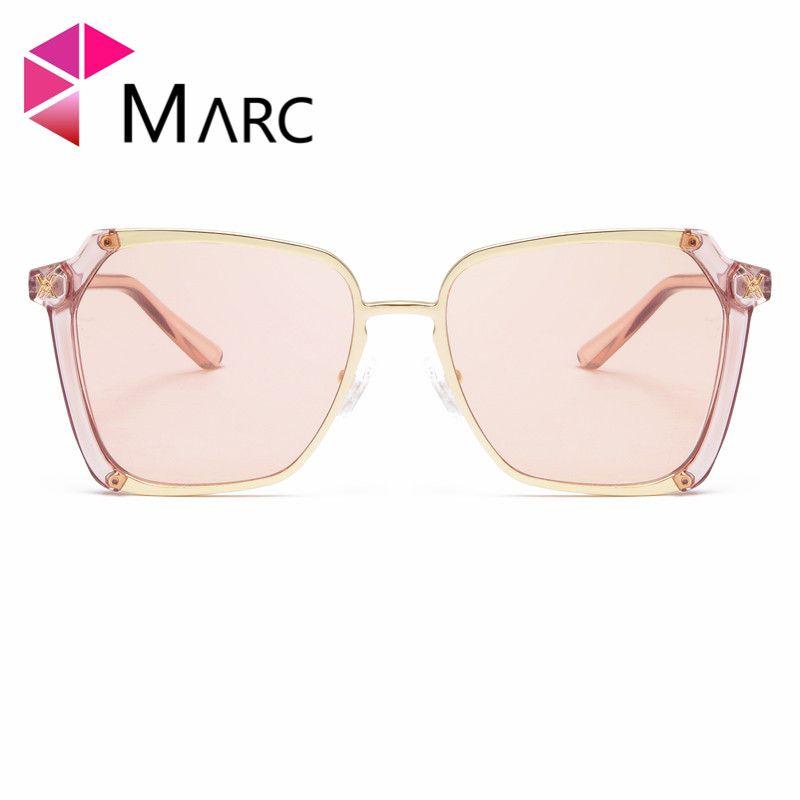 951a114c0a MARC 2018 Fashion Vintage Woman S Sunglasses Reflective Flat Lens Plastic  Tourism Square Sunglasses Multi Color Lens Metal Red Eyewear Designer  Sunglasses ...