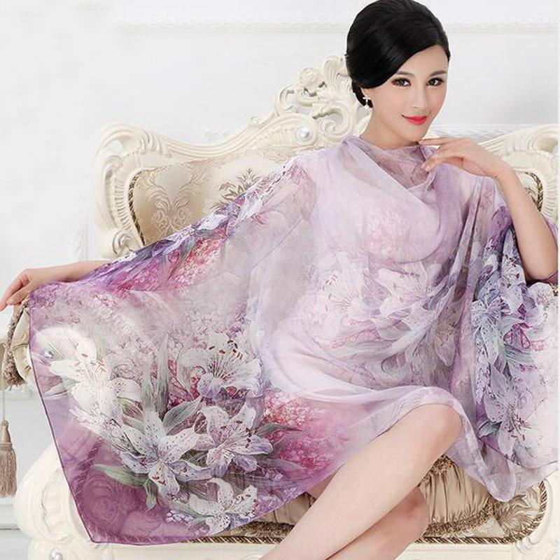 4fcbf3e3f2d6e 2018 High quality 100% mulberry silk scarf natural real silk Women Long  scarves Shawl Female hijab wrap Summer Beach Cover-ups S18101307