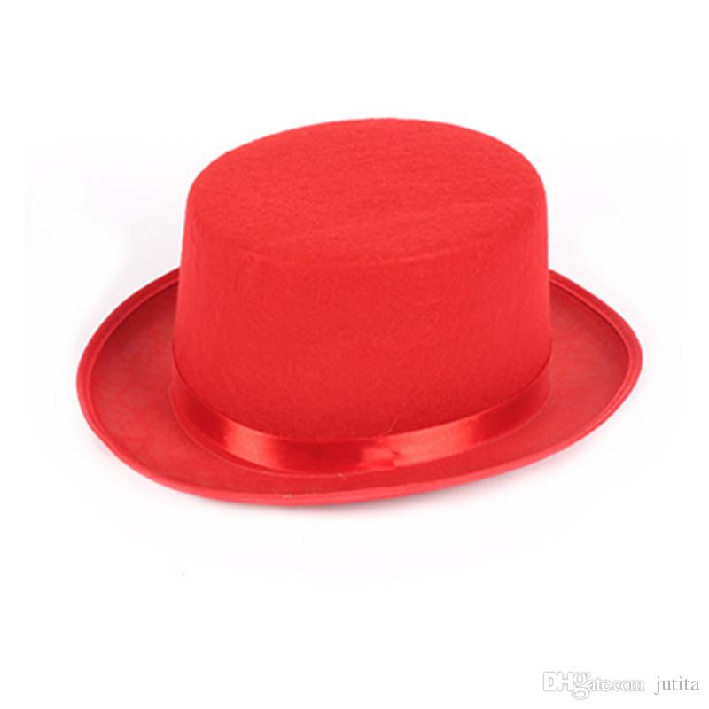 Children Adults Magic Top Hat Magician Performance Show Props Hats Caps Halloween Carnival Party Fancy Dress Decoration