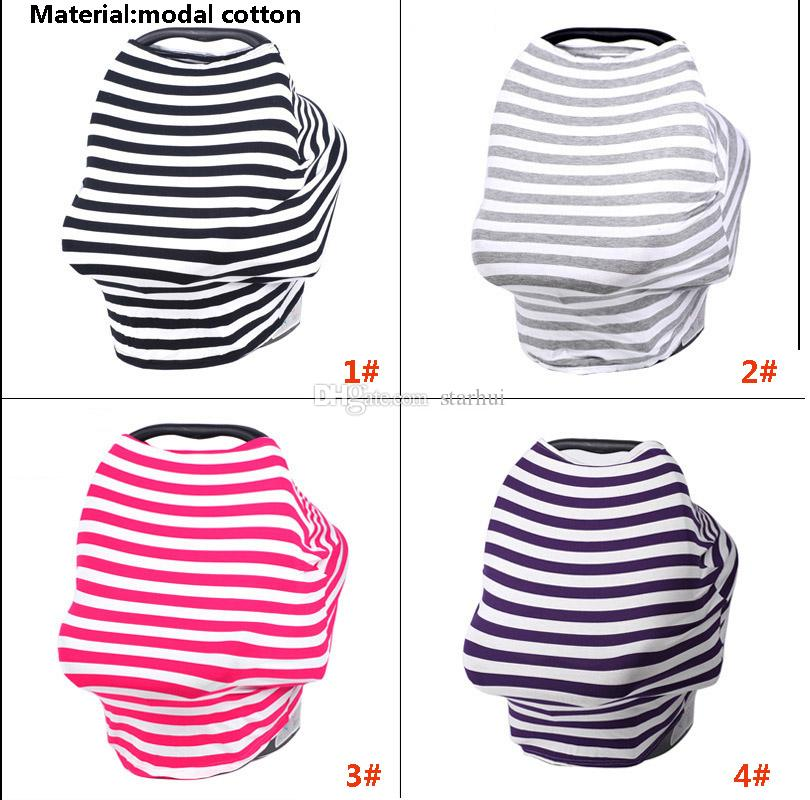 Multi-Use Stretchy Baby Nursing Privacy Wrap Cover Car Seat Shopping Cart Chair Cover For Striple Printed WX9-511