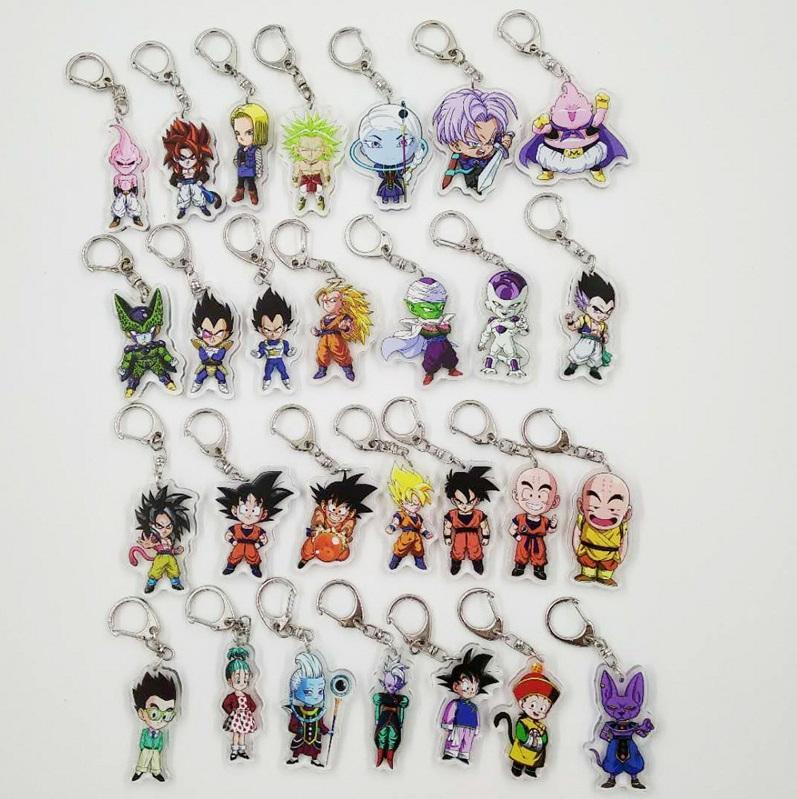 Costume Props Dragon Ball Super Saiyan Acrylic Cosplay Keychain Anime Dragonball Evolution Dbz Pendant Keyring Torankusu Frieza Llavero Novelty & Special Use