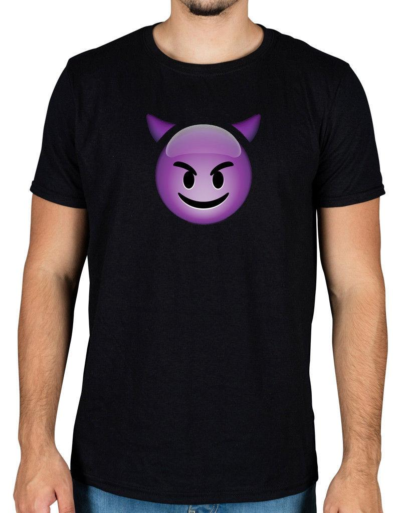 92a9dc6d Devil Face Emoji T Shirt Horny Funny Novelty Android Apple Naughty Icon  Thirsty Ion Cartoon T Shirt Men Unisex New Fashion Tshirt This T Shirt T  Shirts Best ...