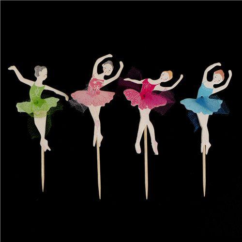/ set buon compleanno pizzo ballerino ragazza torta inserto scheda ballerina fata cupcake topper raccoglie decorazioni feste di compleanno