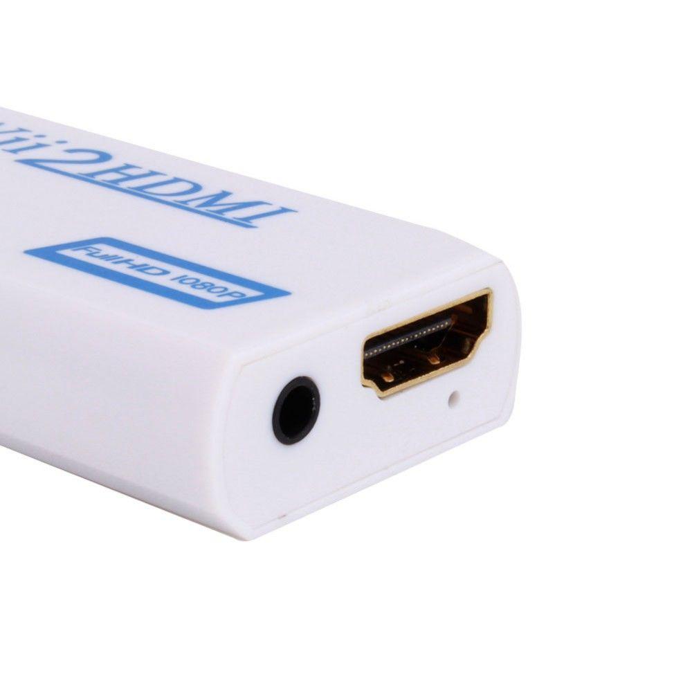 VBESTLIFE Convertisseur Wii vers HDMI 1080P Adaptateur Wii2HDMI Jack 3,5 mm Sortie audio-vidéo Sortie Full HD 1080P pour HDTV