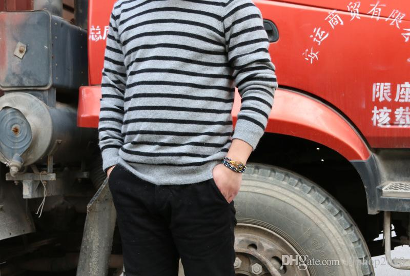 Designer Anker Armband-Schmucksachen 4 Größe Triple-Gewinde Seil Herren Armband Edelstahl Anker-Charme-Armbänder