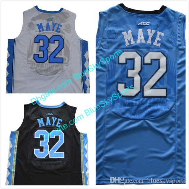 Men s Luke Maye High Quality White Blue Black  32 North Carolina Tar ... f09f2502f