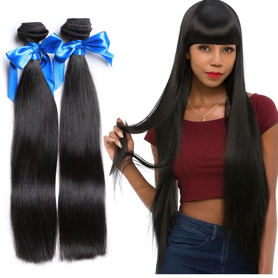 Wyf Brazilian Hair Extensions 4 Bundles Straight Weaved Hair 100
