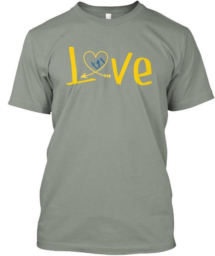 dc9b59311 Love Down Syndrome Tees Premium Tee T Shirt Funny Cool Shirts Be Awesome T  Shirt From Lijian55, $12.08| DHgate.Com