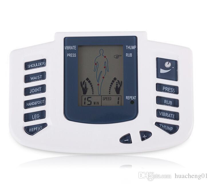 LCD Electronic Pulse Massager Tens Acupuncture Therapy Machine Body Massager Tools Electrical Stimulator