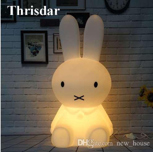 Lights & Lighting Led Table Lamps Intelligent Ins Hot Rabbit Children Bedroom Led Table Lamp Dimmable Baby Bedroom Led Night Light White Rabbit For Kids Gift