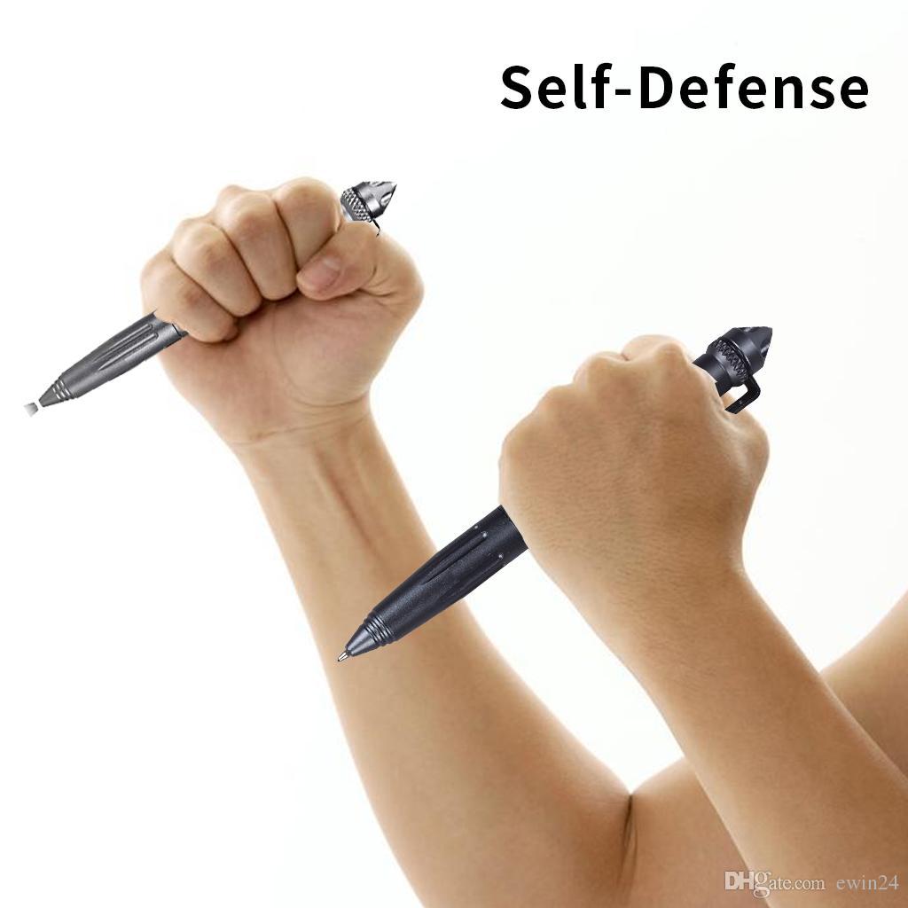 Aircraft Aluminum Defender Tactical Pen for Self-defense Glass Breaker Multifunctional Survial Tool with Aviation aluminum