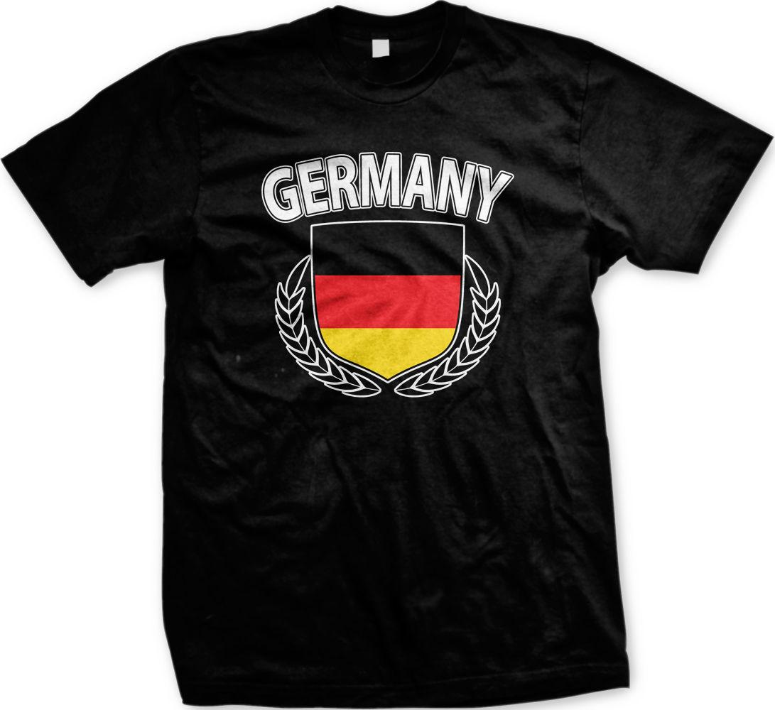 New Brand - Clothing T Shirts Germany Crest Olive Branch Flag German  Deutschland Country Pride Men s T Shirt Summer Fashion