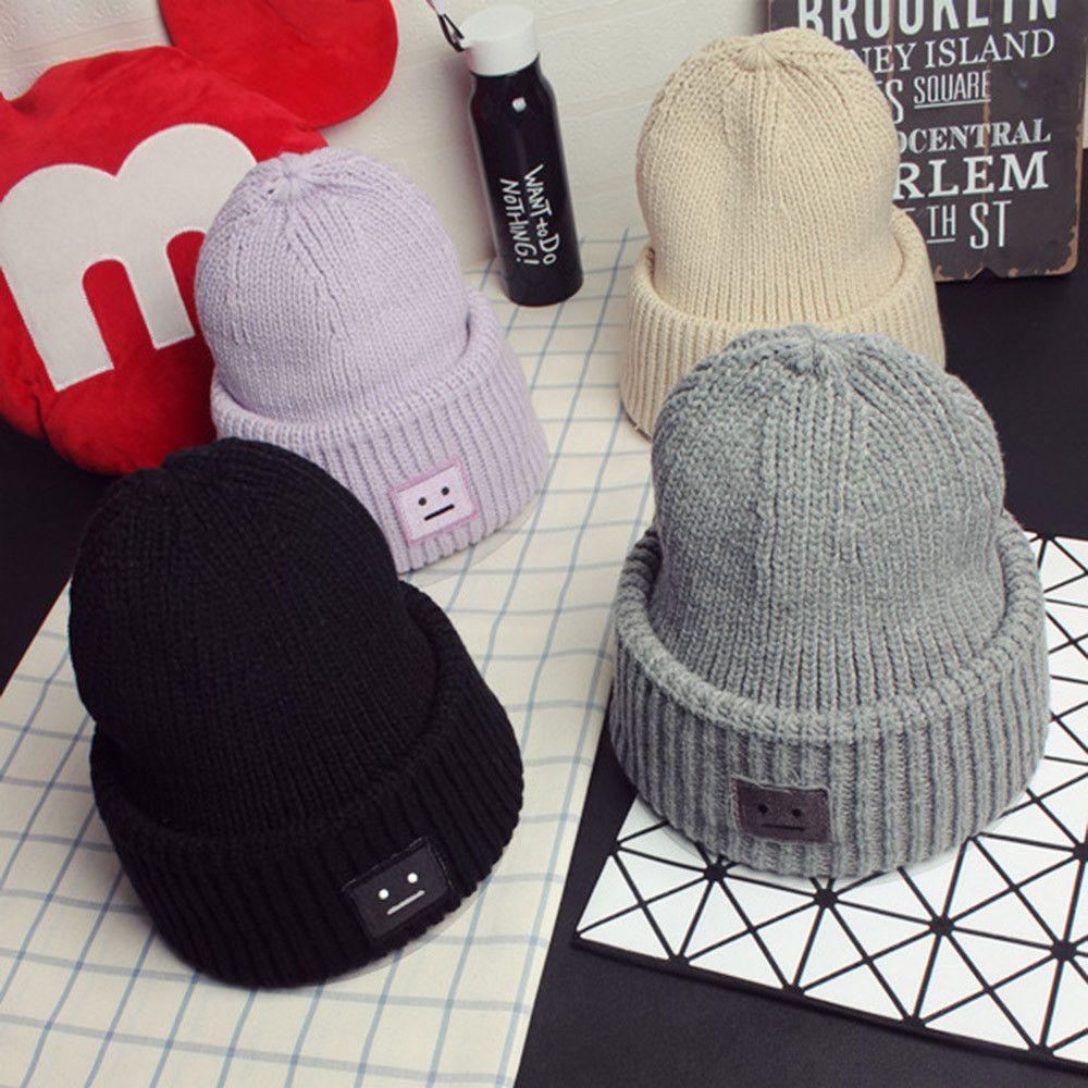 06c7e00c438 2019 2018 New Women S Hat Men Women Baggy Warm Crochet Winter Wool Knit Ski Beanie  Skull Slouchy Caps Hat Pompom For A Girl From Peachguo