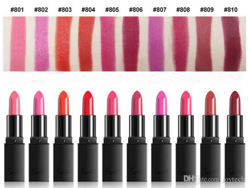 10 farben neue sexy frauen make-up lippenstift langlebig nude lippenstift matt lipgloss make-up wasserdicht schönheit lippen coametics