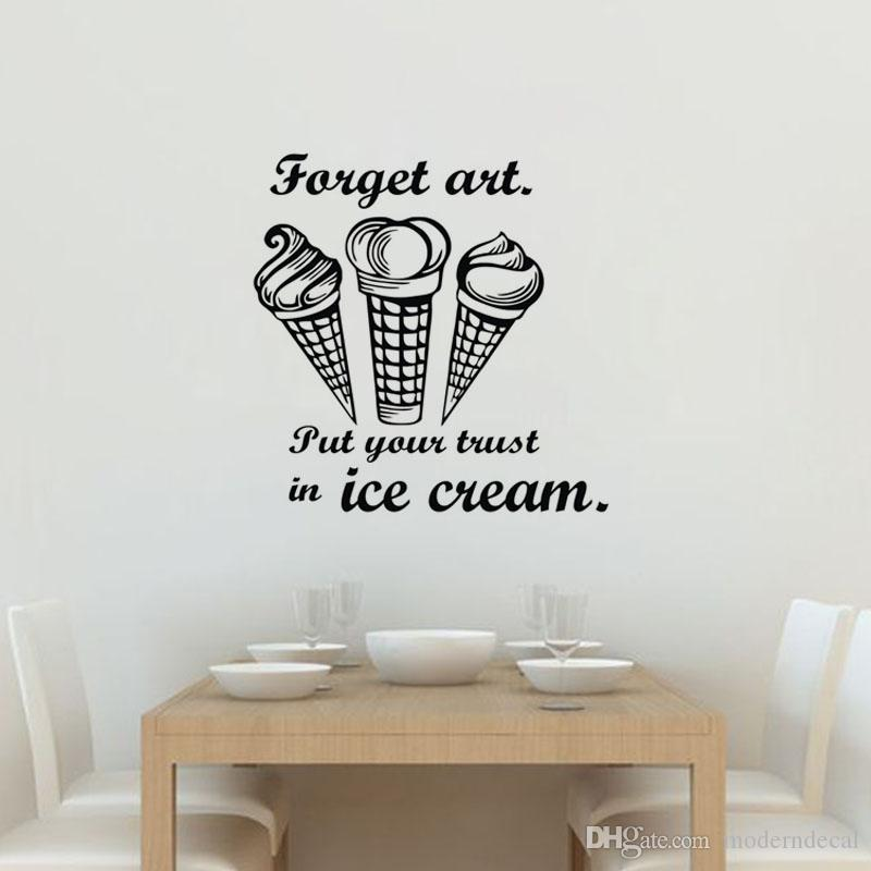 put your trust in ice cream wall stickers creative kitchen tile