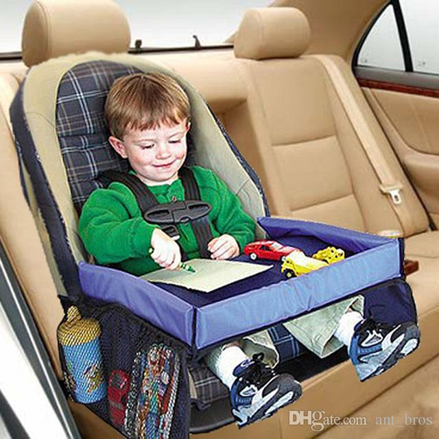 Waterproof Table Car Seat Tray Storage Kids Toys Infant Stroller