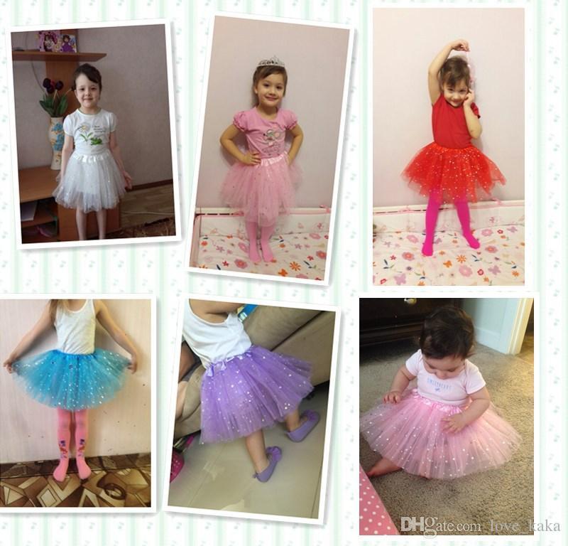 새로운 아기 소녀 반짝이 발레 Dancewear 투투 스커트 여자 Bling Sequins Tulle Tutu 스커트 공주 Dressup paillette 스커트 의상