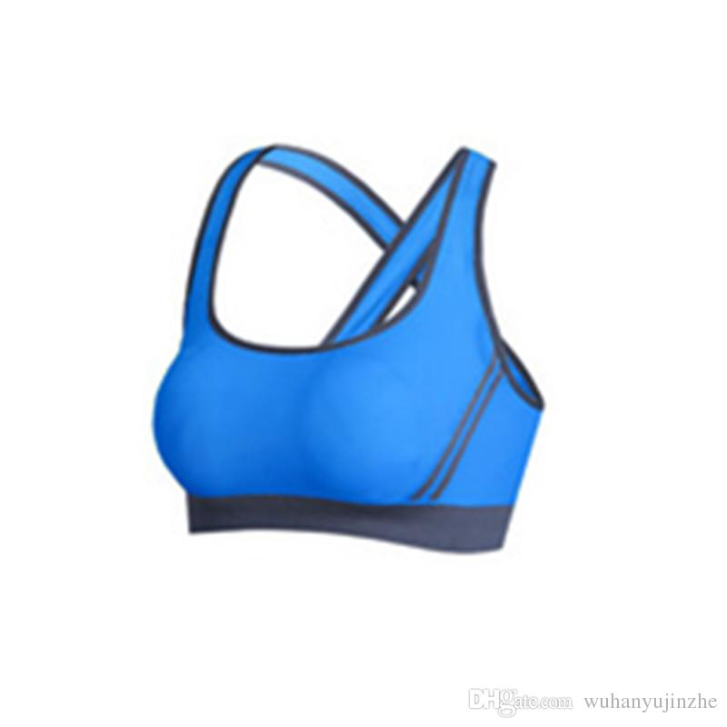 Soutien-gorge de remise en forme pour femme avec brassière de compression sportwear Sportswear Dessus rapide récolte rapide élastique top top de course sexy soutien-gorge yoga dames DH091