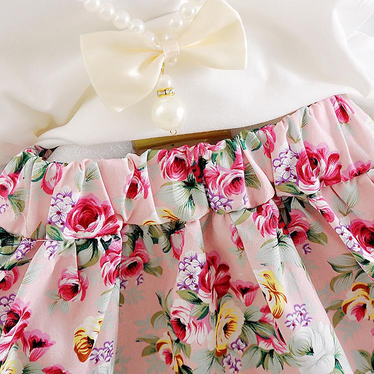 Children Flowers outfits girls top+Floral skirts 2018 summer Baby suit Boutique kids Clothing Sets C3837