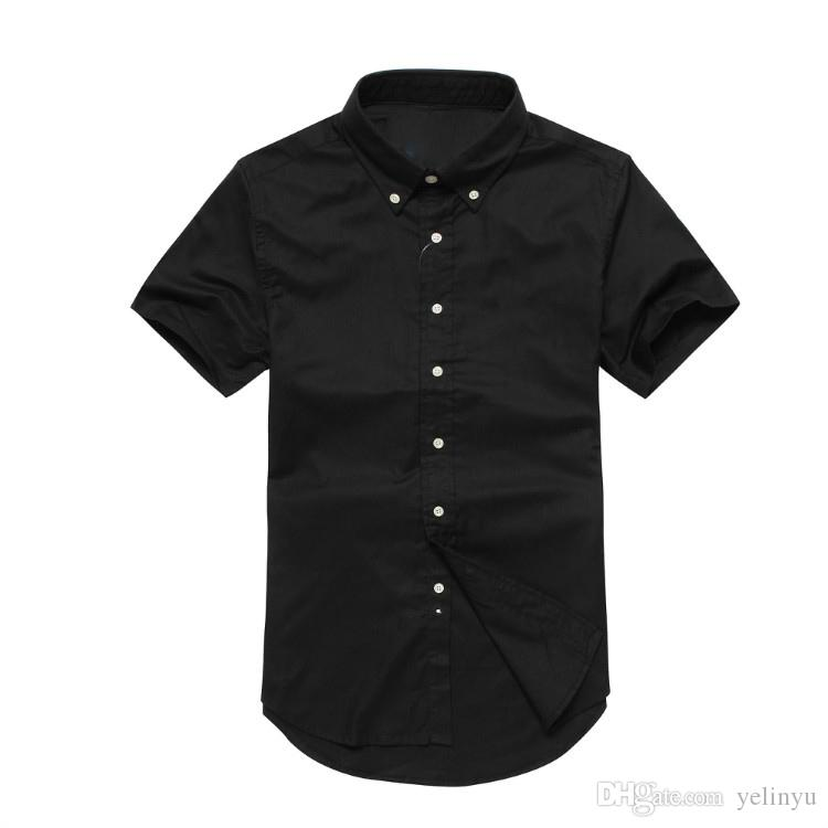 Commerce American style shirt casual short-sleeved pure cotton 100% shirt quality good cheap design chest has a pony polo S-2XL
