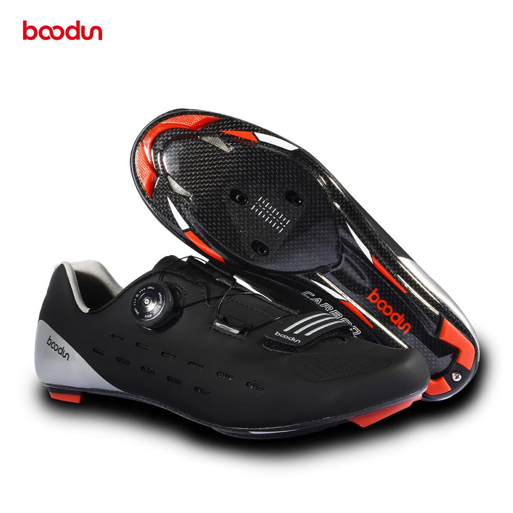 19194b16e97 Boodun Professional Carbon Men s Road Bike Shoes Bicycle Shoes ...