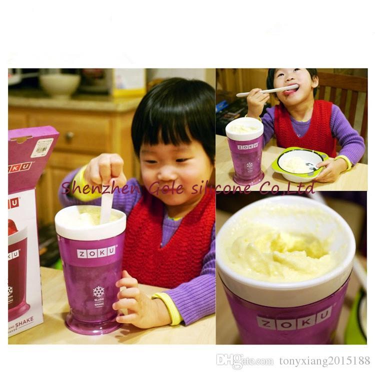hot Creative New Fruits Juice Cup Fruits Sand Ice Cream ZOKU Slush Shake Maker Slushy Milkshake Smoothie Cup
