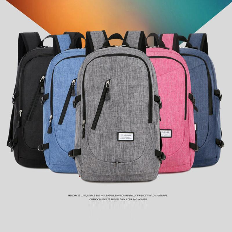 23bfd37779 2019 2018 Fashionable Design School Bag Wear Resistant Double Shoulder Bag  With USB Charging Interface And Headphone Hole Computer Backpack From ...