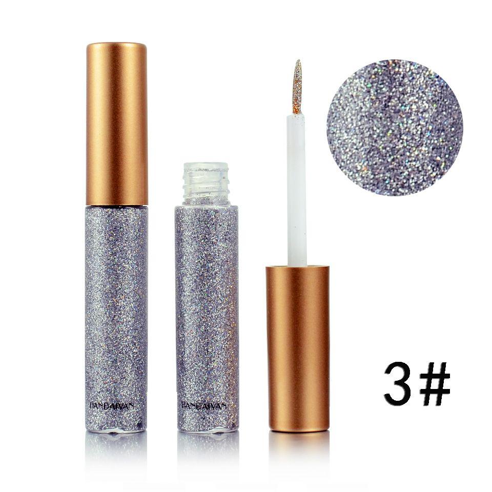 Fodera eyeliner liquido glitter HANDAIYAN i Fodera ombretto metallizzato Shine