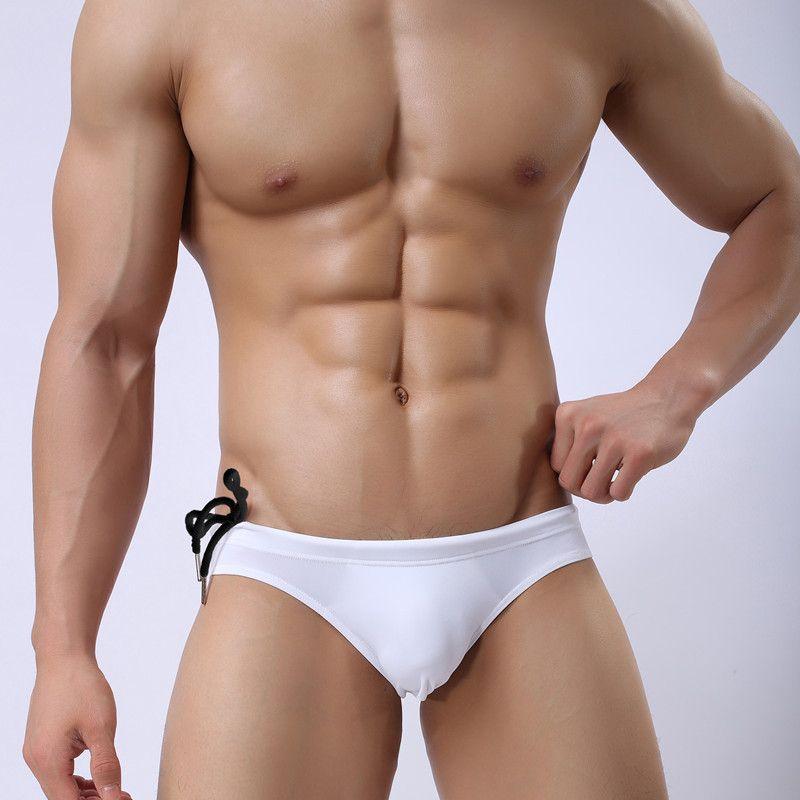 7d8c88480f Brand Sexy Low Rise Men Swim Briefs Nylon Men S Swimwear Brief Mens Bikini  Sport Surf Swimming Elastic Sunga Male Underpants XL UK 2019 From Danny26