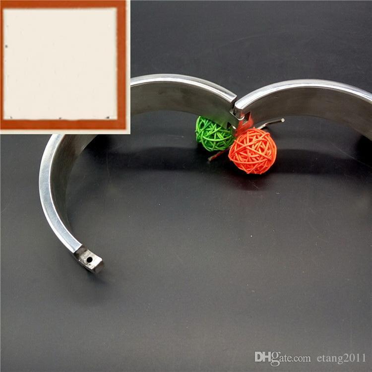 2018 BDSM SM Sex Toys Gioco in acciaio inossidabile di lusso Heavy Duty Collar / Thick Iron Locking Collar Mirror lucidato Spedizione gratuita