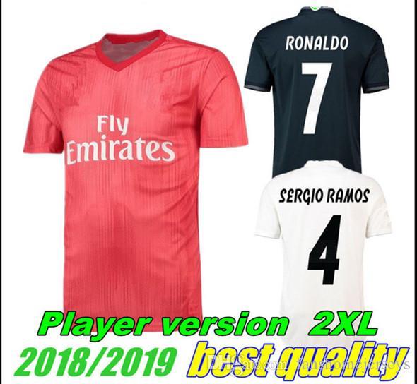 Real Madrid FULL SPONSOR player issue sweater shirt Ronaldo Bale Modric Ramos Fußball-Trikots Fußball-Trikots von ausländischen Vereinen