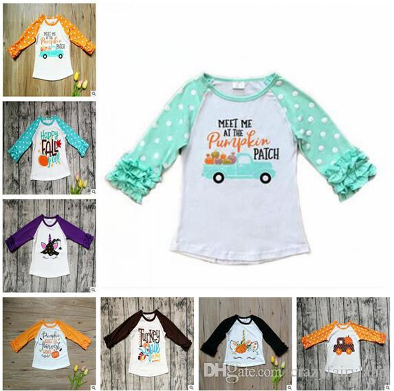 b5c805779e0 2019 Toddler Halloween Cute Unicorn Kid Baby Girl Long Sleeve T Shirt Tops  Halloween Pumpkin T Shirt Wild Fashion Trend Infant Lovely Boutique From ...