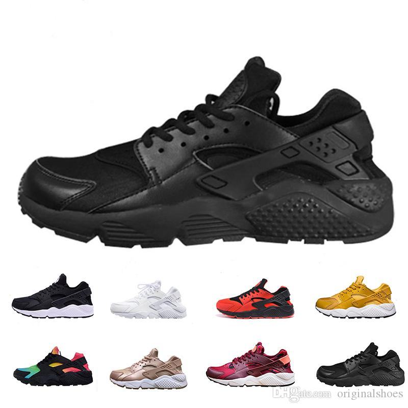 huge discount 0e152 eba6d Huarache 1.0 Running Shoes Men Women Triple White Black Red Air Hurache  Gold Grey Outdoors Huaraches Designer Trainers Sneakers Men Sports Shoes  Shoe Shops ...