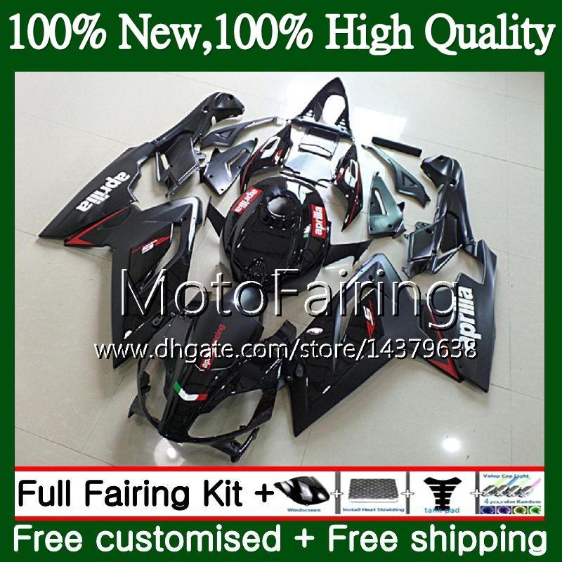 Inyección para Aprilia RS4 ALL Negro RSV125 RS125 06 07 08 09 10 11 RS-125 0MF4 RSV RS 125 2006 2007 2008 2009 2010 2011 Fairing Bodywork